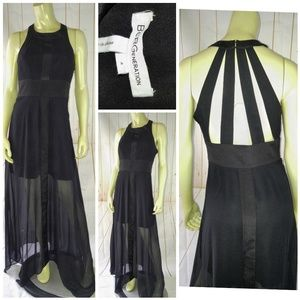 BCBGeneration Gown Dress 4 black polyester maxi